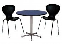 - 1 x Black Cafe Table 900mm Diameter x 750mm High  - 2 x Black Mimi Chairs