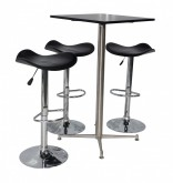 Square Bar Table Package - Black