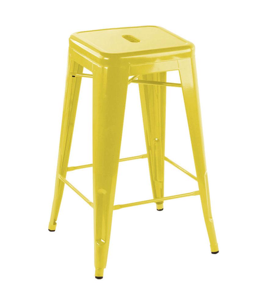 tolix yellow bar stool