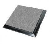 Raised Floor Grey Carpet 5426