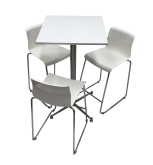 Square Bar Table Package 3 Seat
