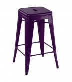 Tolix Purple Bar Stool 4108