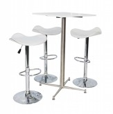 Square Bar Table Package - White