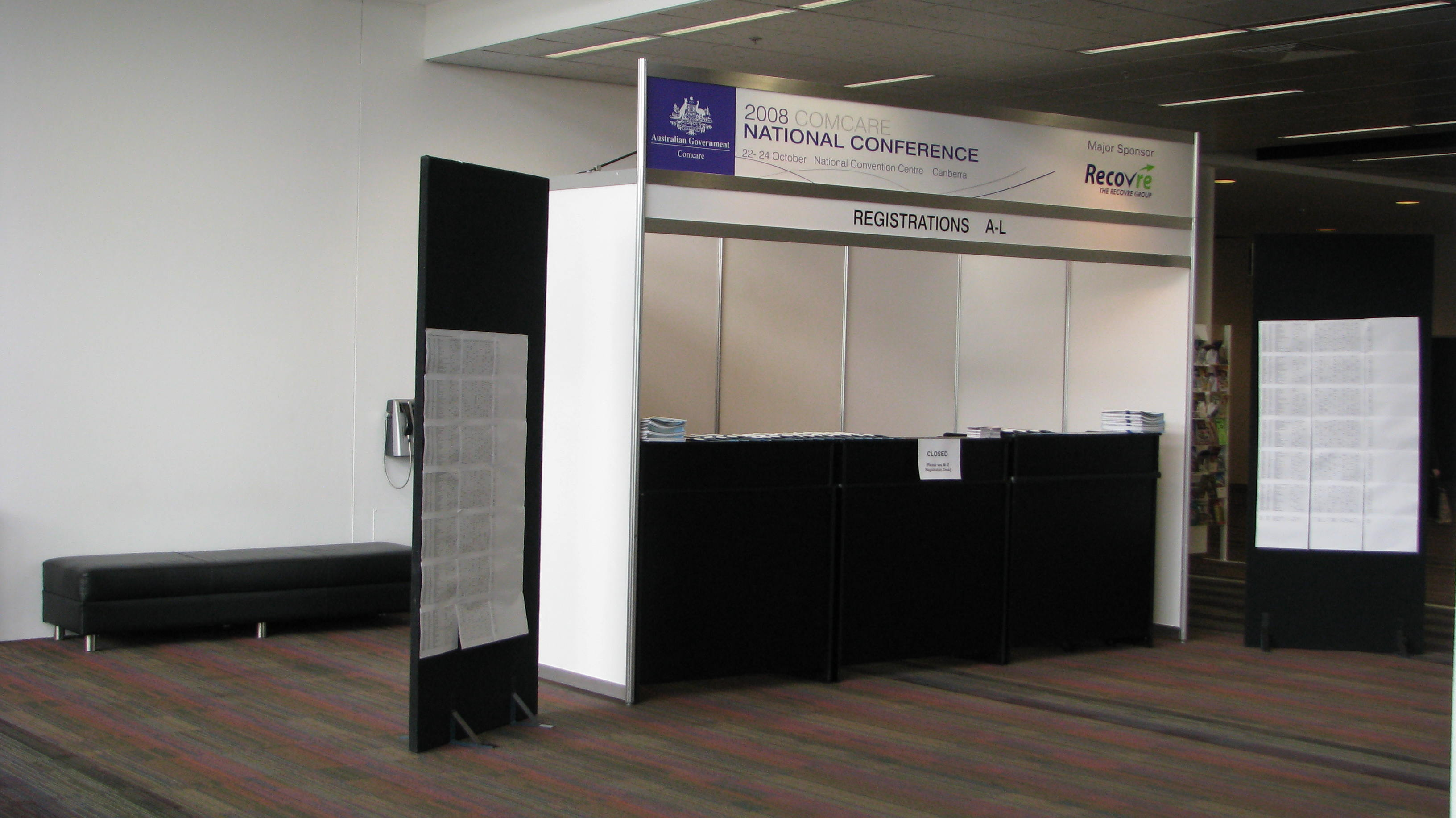 Registration Booth 1