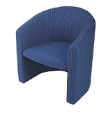Tub Chair - Blue 4136
