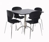 Cafe Package 4 Seat Square - Black